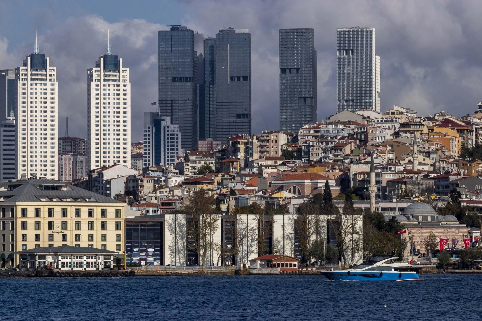 Skyline d'Istanbul dans la ville d'İstanbul en Turquie