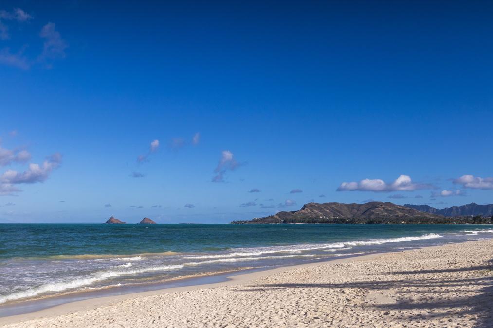 Kailua Beach sur l'île Oahu de l'archipel d'Hawaï