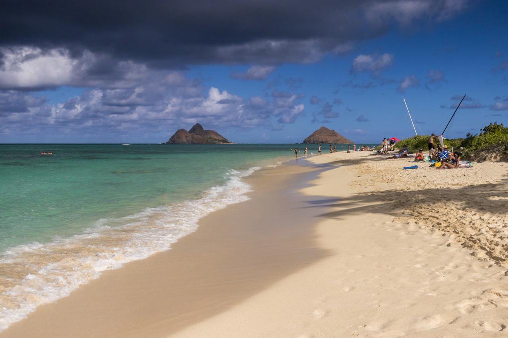 Lanikai Beach sur l'île Oahu de l'archipel d'Hawaï