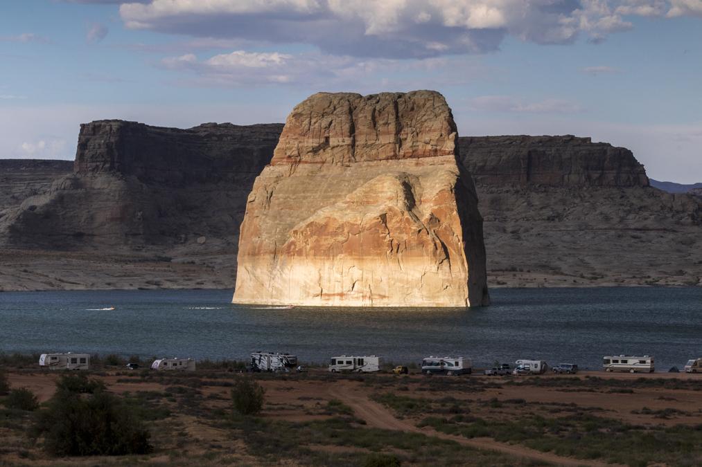 Lone Rock du Lake Powell aux Etats-Unis