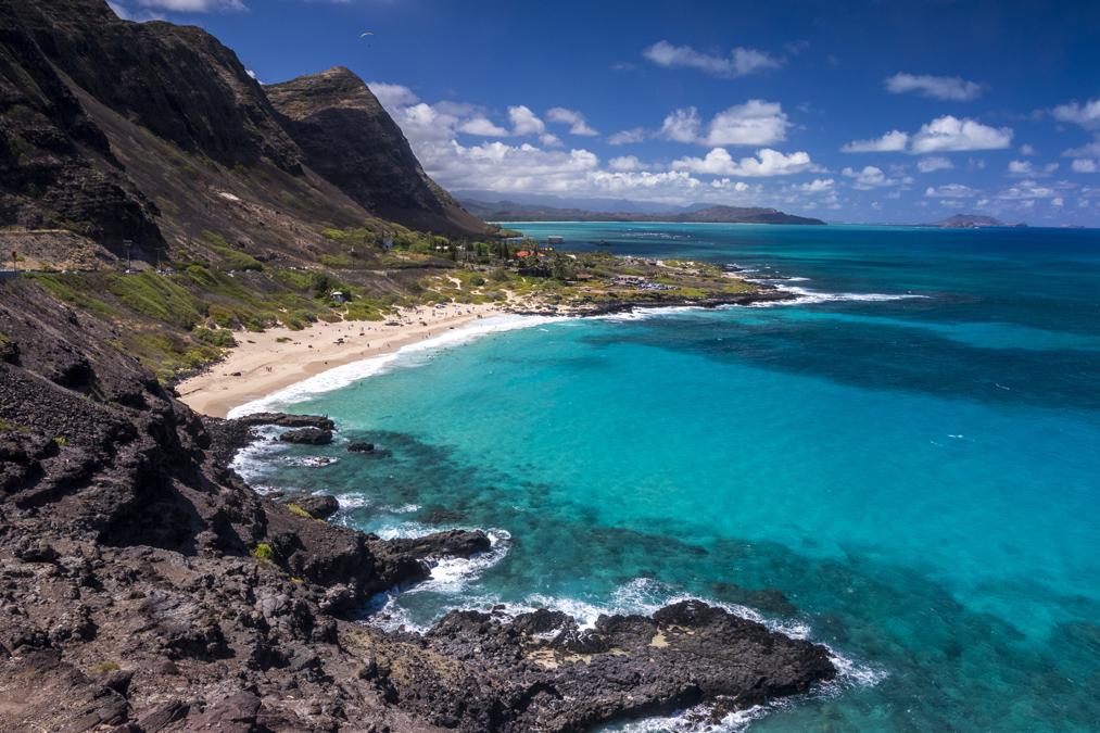 Makapuʻu Lookout sur l'île Oahu de l'archipel d'Hawaï