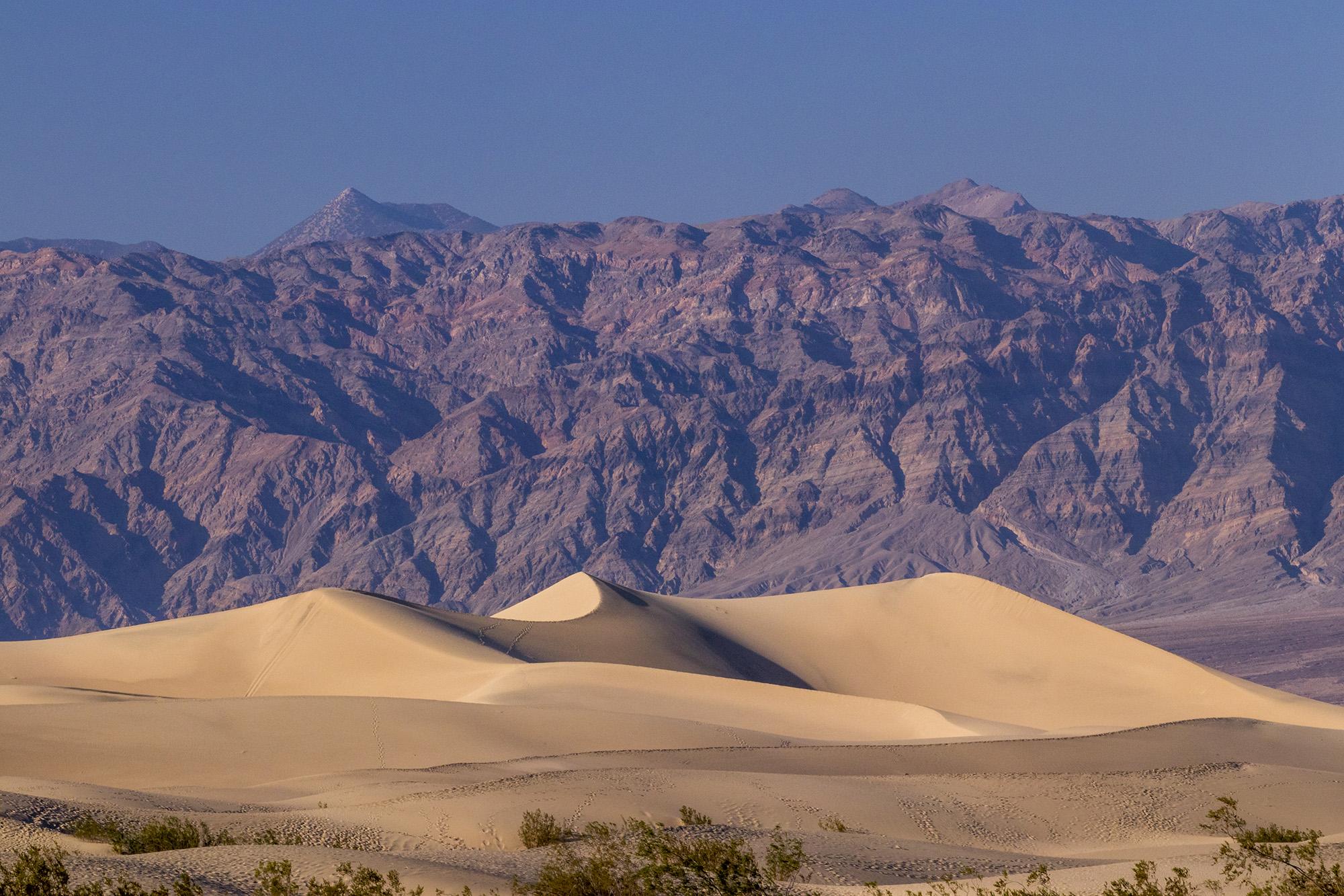 Mesquite Flat Sand Dunes dans la Death Valley National Park aux Etats-Unis