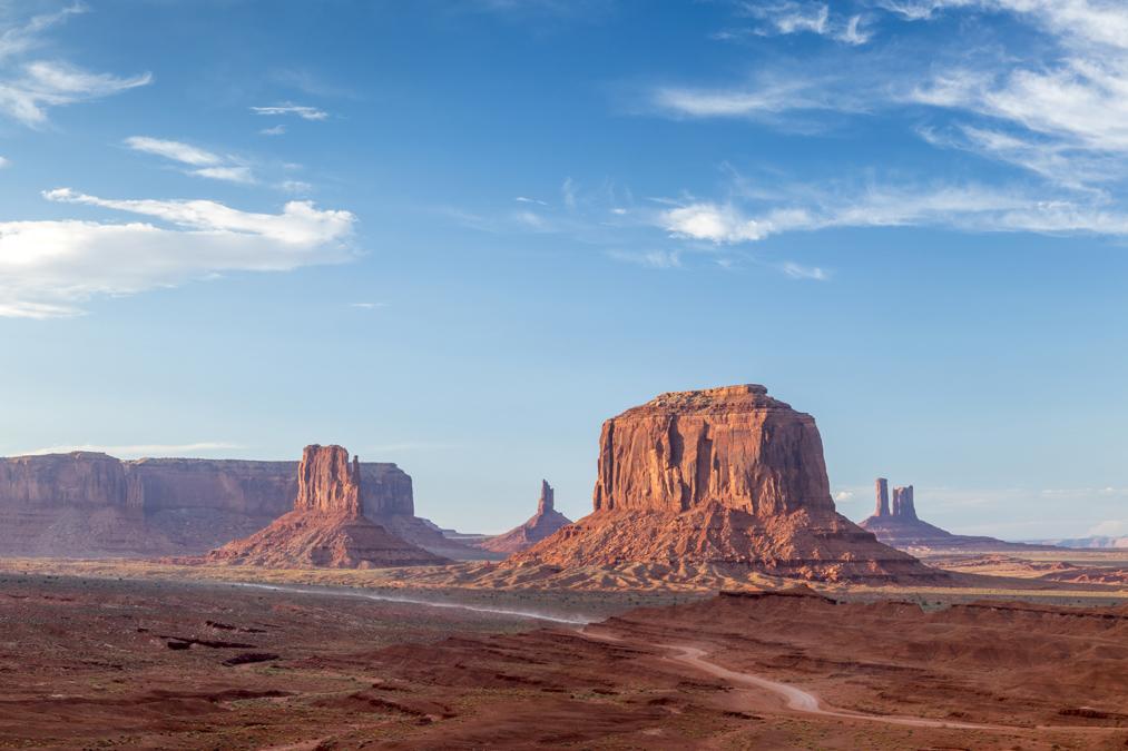 Merrick's Butte dans le site de Monument Valley aux Etats-Unis