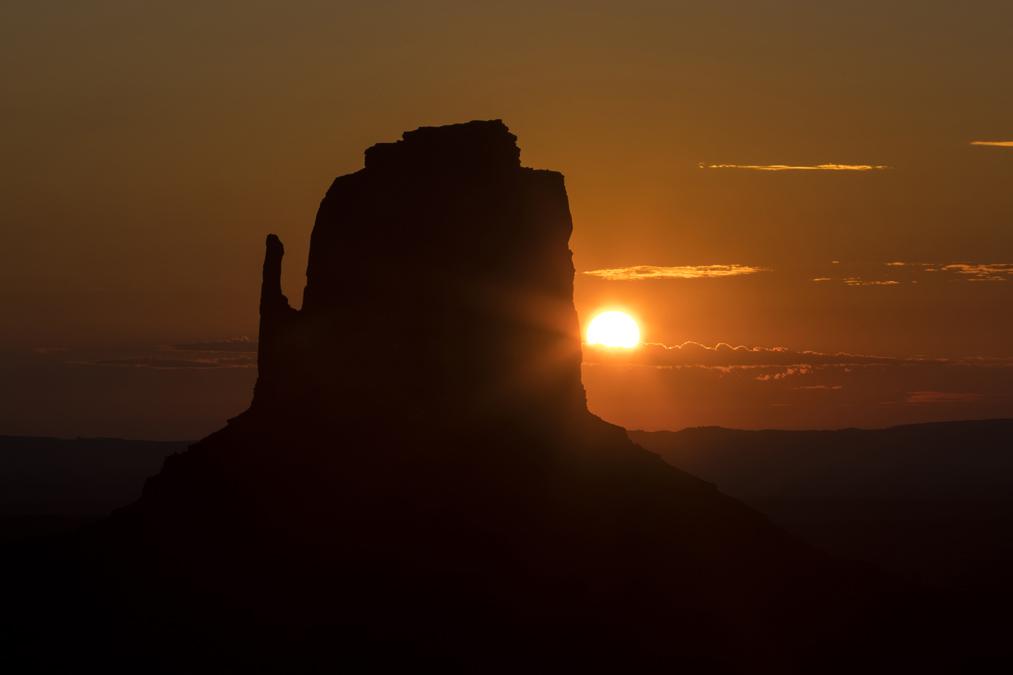 Mitten Buttes dans le site de Monument Valley aux Etats-Unis