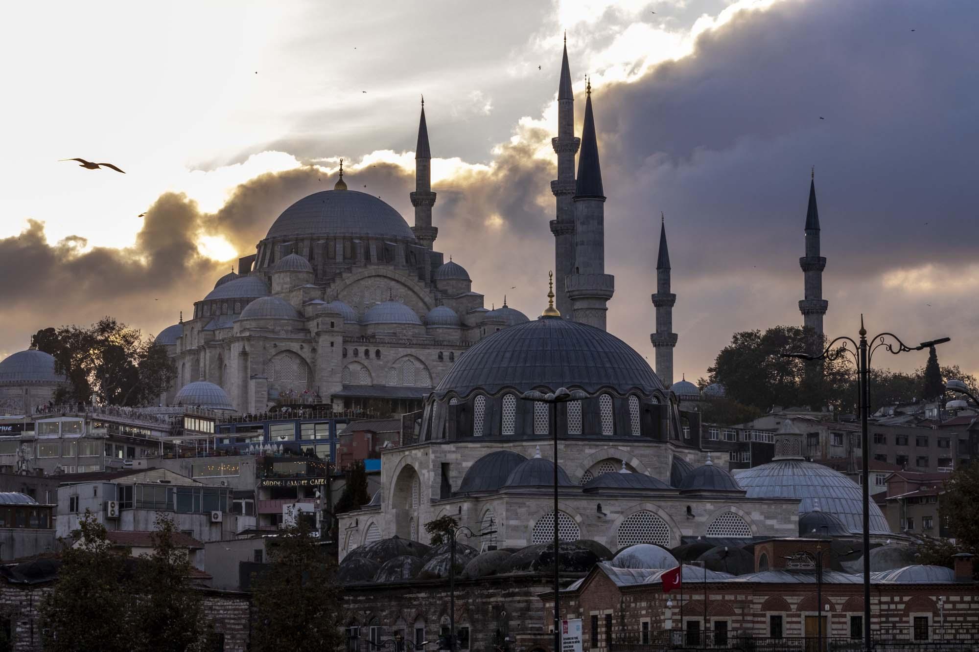 Süleymaniye Camii dans la ville d'İstanbul en Turquie