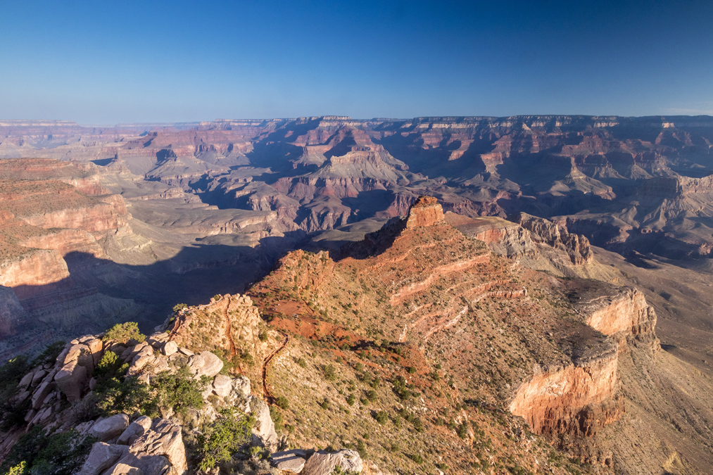Ooh aah Point du Grand Canyon National Park aux Etats-Unis