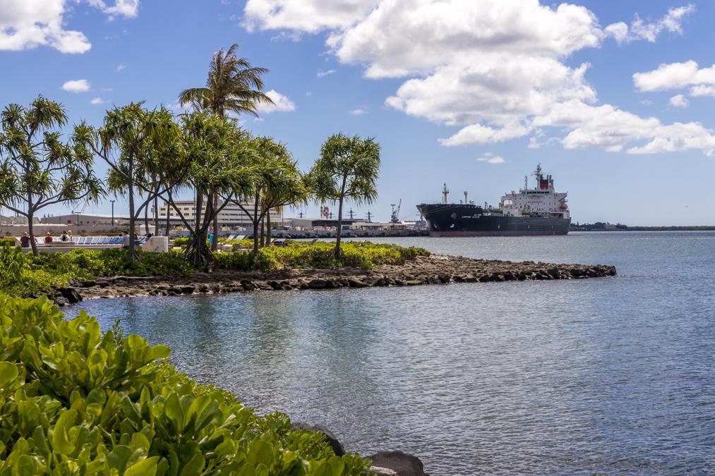 Pearl Harbor à Honolulu sur l'île Oahu de l'archipel d'Hawaï