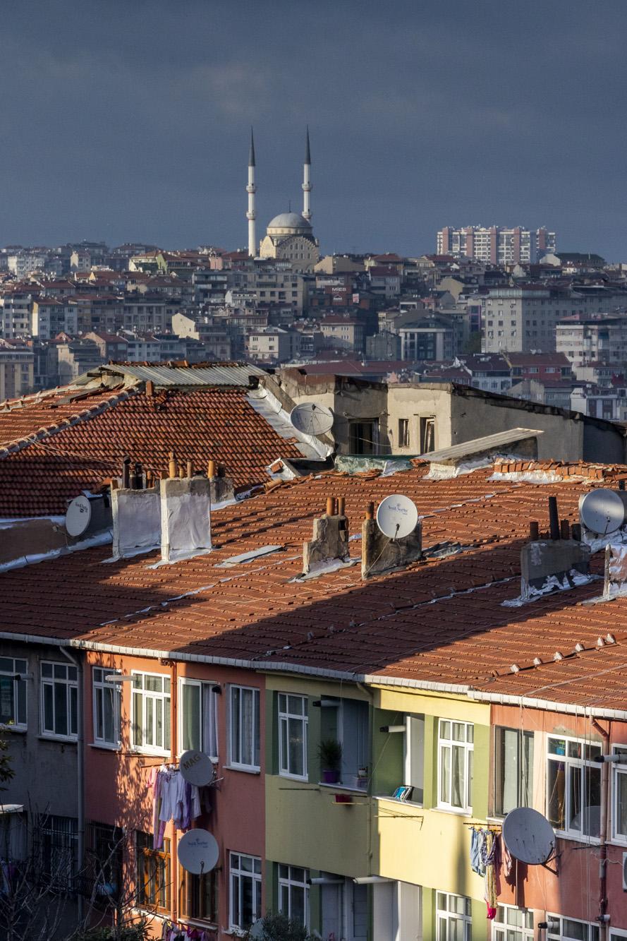 Quartier de Balat dans la ville d'İstanbul en Turquie