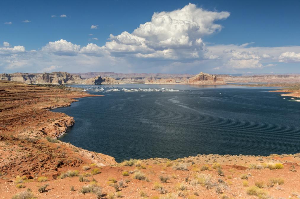 Scenic View du Lake Powell aux Etats-Unis