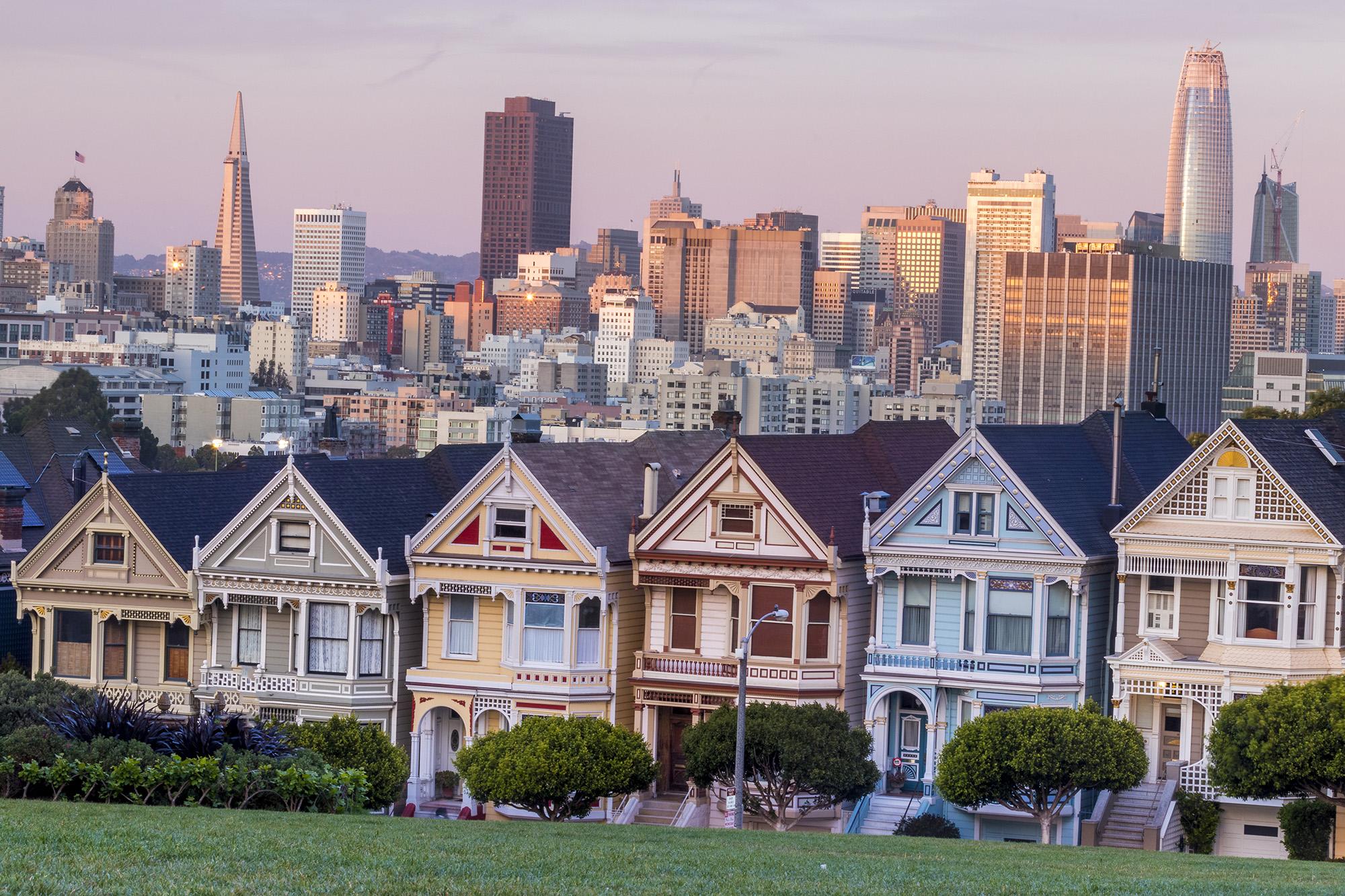 Painted Ladies dans San Francisco aux Etats-Unis