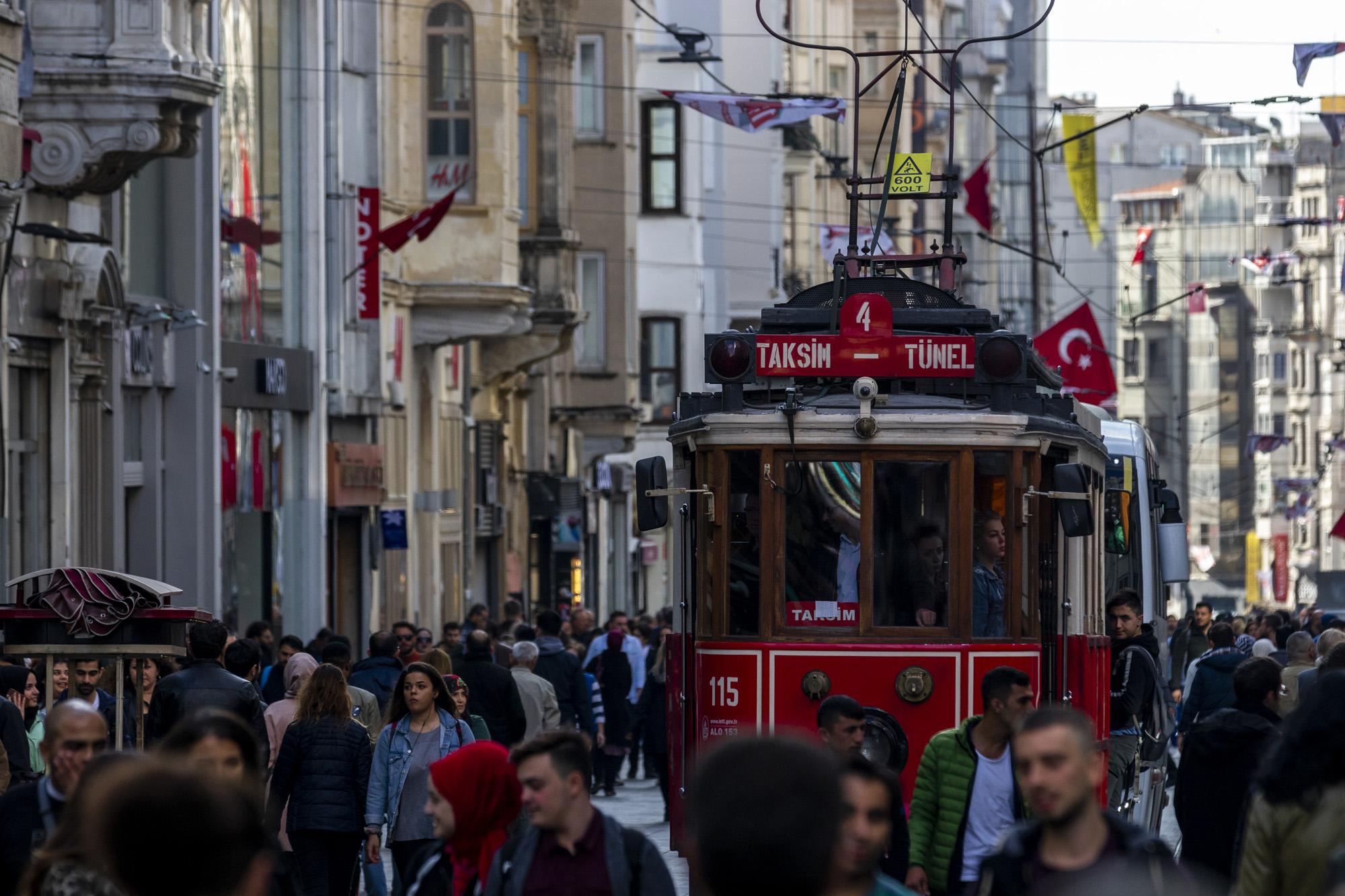 İstiklâl Caddesi dans la ville d'İstanbul en Turquie