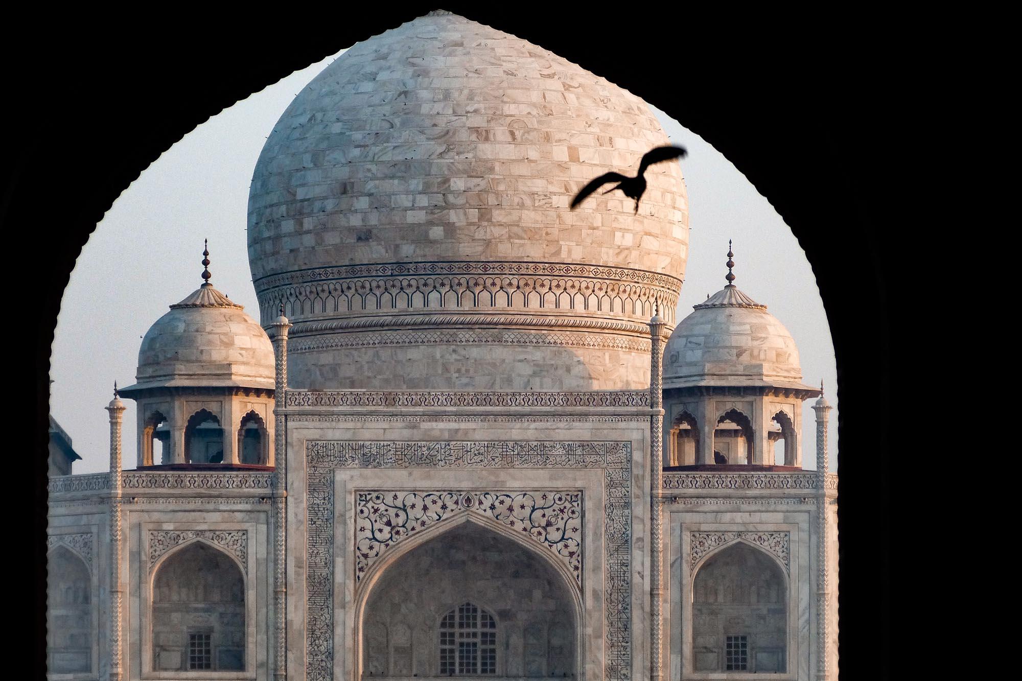 Taj Mahal dans la ville de Agra en Inde du Nord