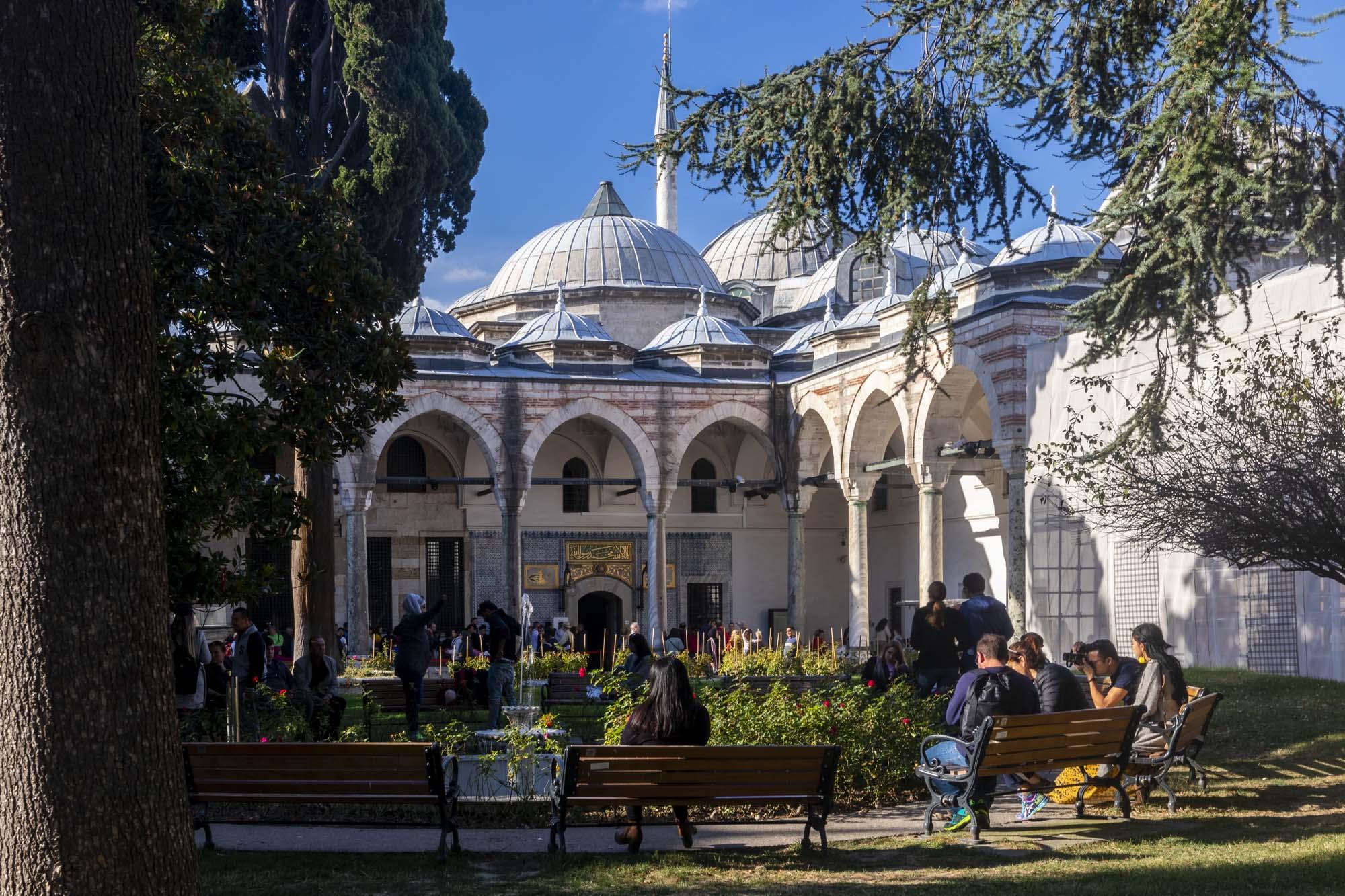 Courtyard III du Topkapı Sarayı dans la ville d'İstanbul en Turquie