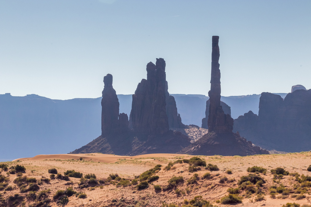 Totem Pole dans le site de Monument Valley aux Etats-Unis