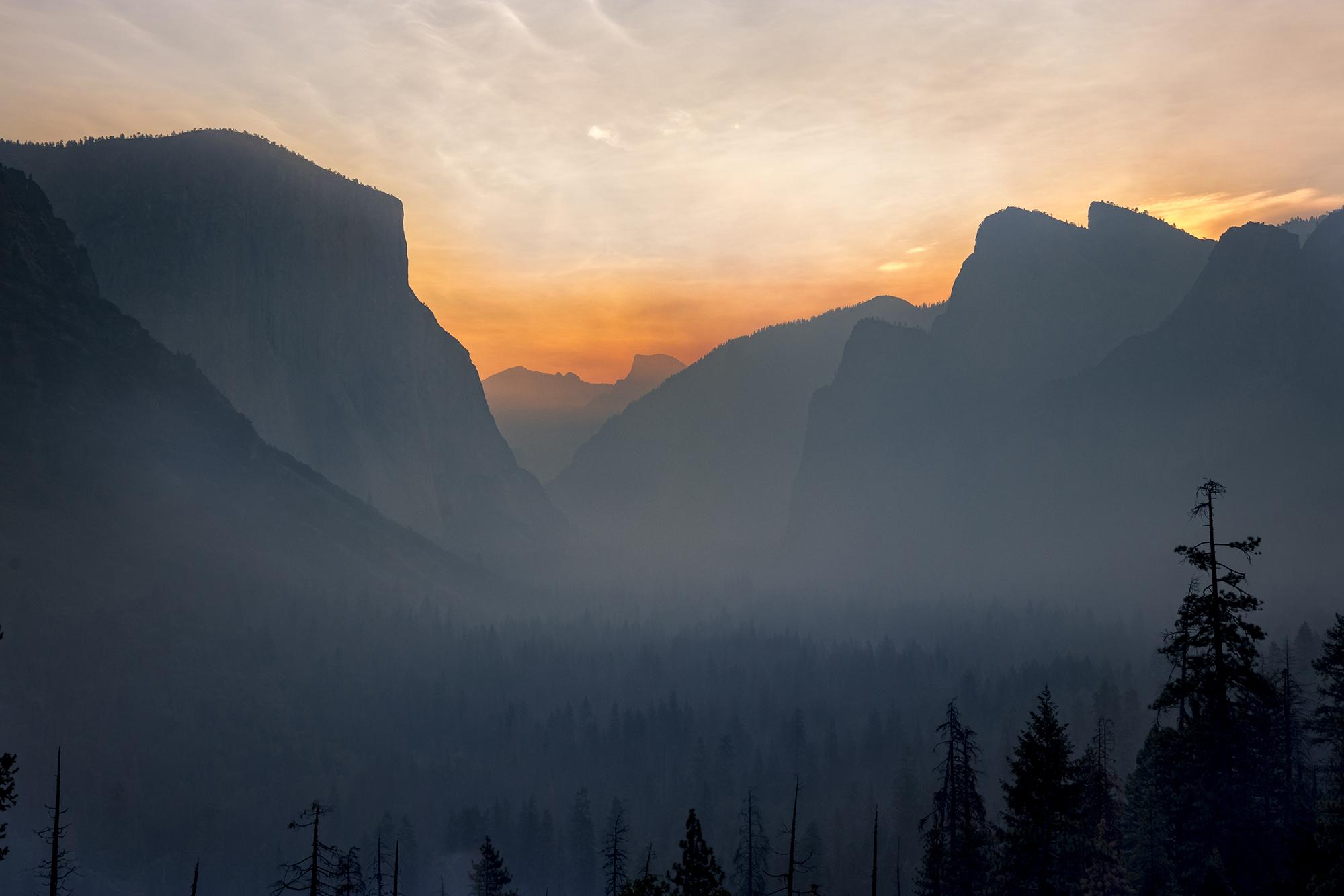Tunnel View dans le Yosemite National Park aux Etats-Unis
