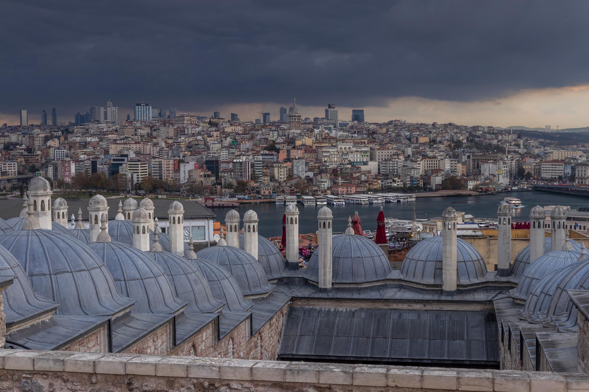 Quartier de Karaköy dans la ville d'İstanbul en Turquie