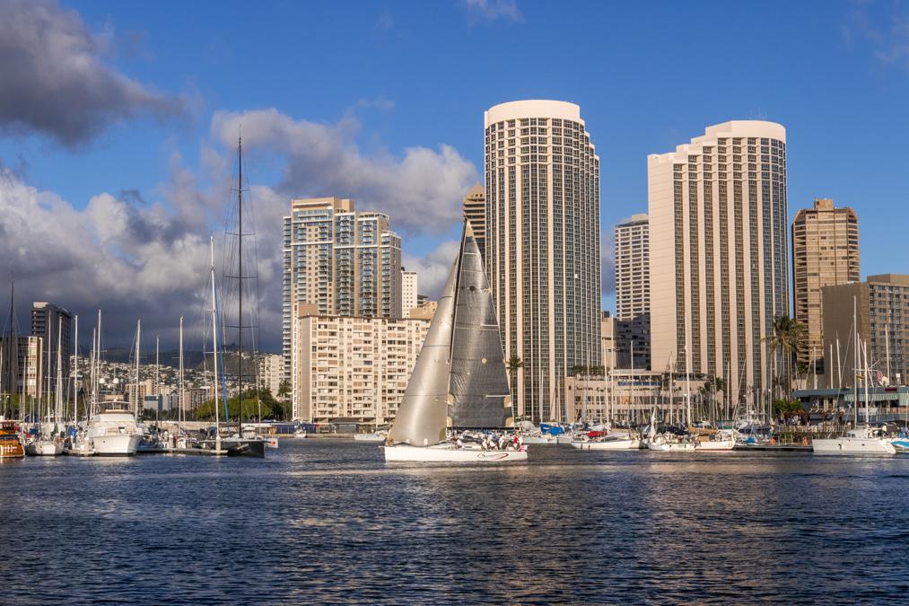 Waikiki à Honolulu sur l'île Oahu de l'archipel d'Hawaï