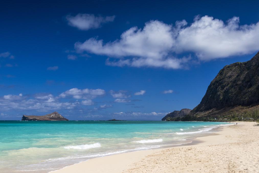 Waimanalo Beach sur l'île Oahu de l'archipel d'Hawaï